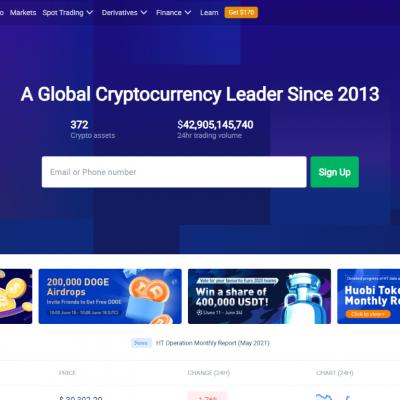Huobi Global – Professional Bitcoin Trading Platform