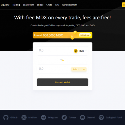 MDEX(BSC) - Crypto Exchange