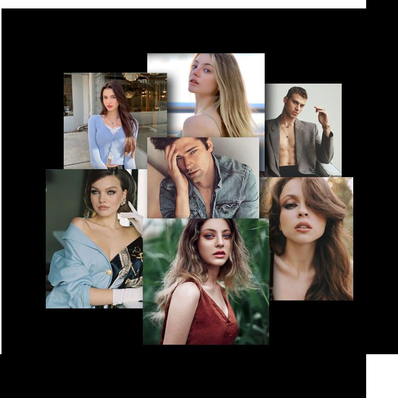 models collage