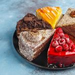 Assortment of pieces of cake.