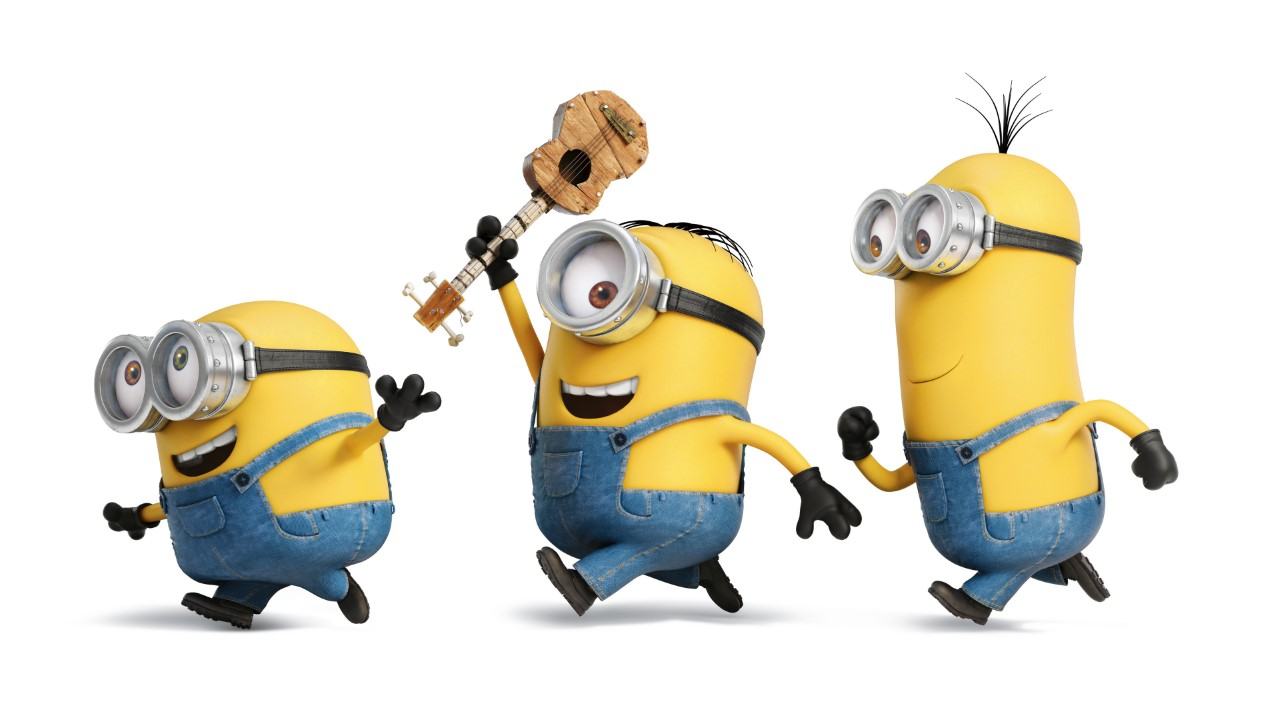 Three funny minions