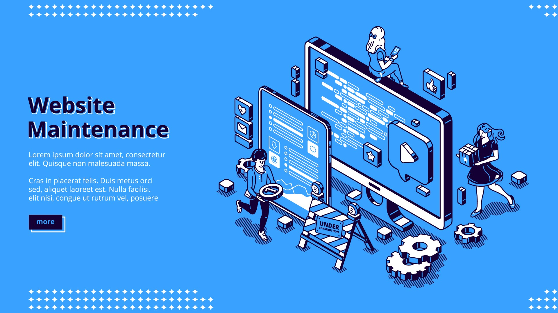Vector banner of website maintenance
