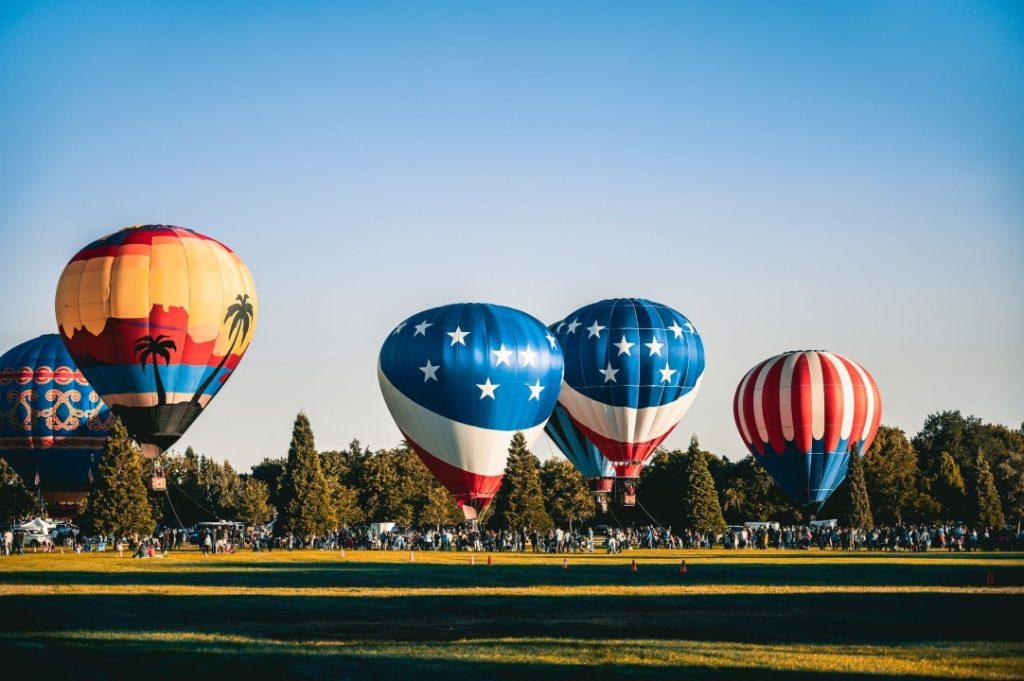 Anchored Hot Air Balloons
