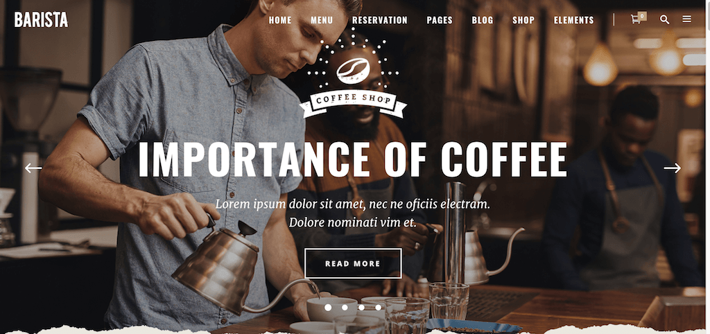 Barista - Modern WordPress Theme for Cafes, Coffee Shops