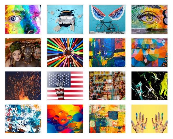 Flickr Album Gallery Pro - 4 columns