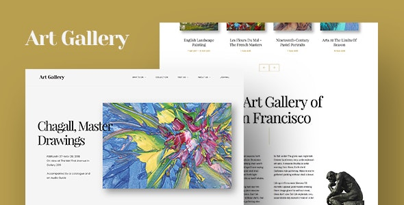 Best WordPress Theme For Visual | Fine Art WordPress Theme