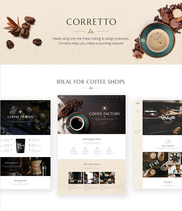 Corretto - A WordPress Theme for Coffee Shops and Cafés