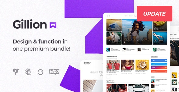 Gillion Bootstrap WordPress Theme
