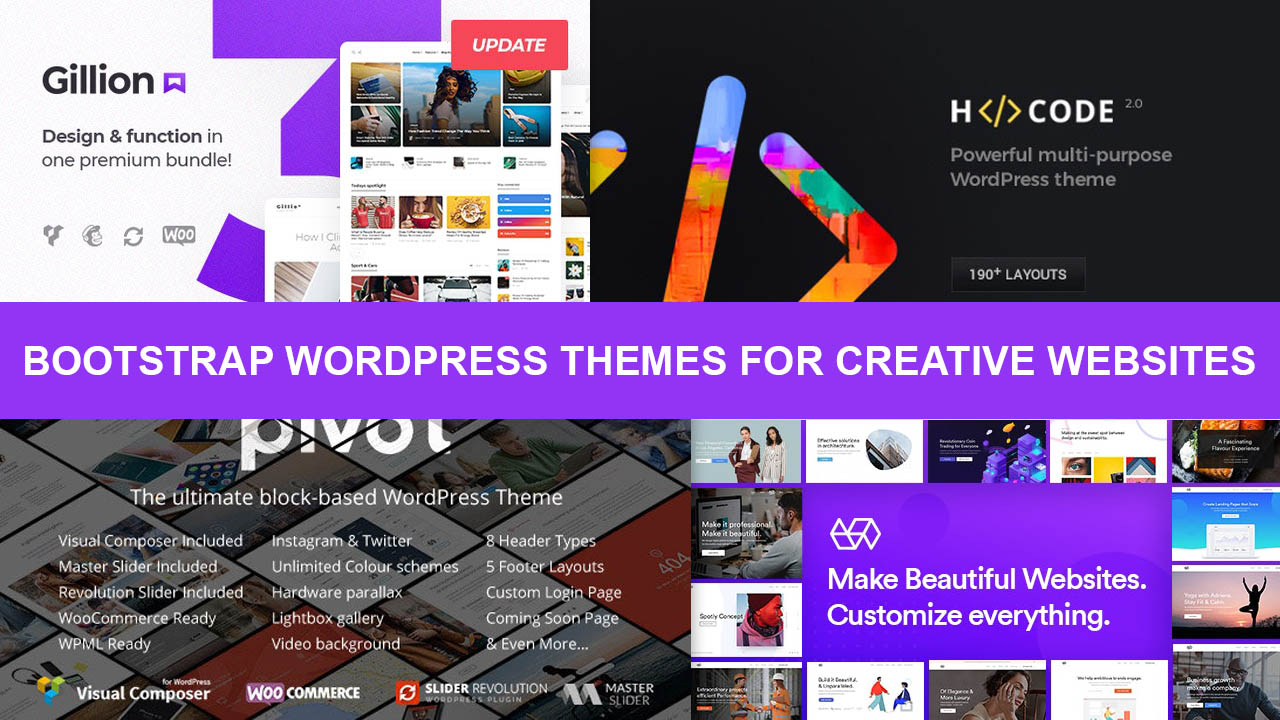 Best Bootstrap WordPress Themes For Creative Websites