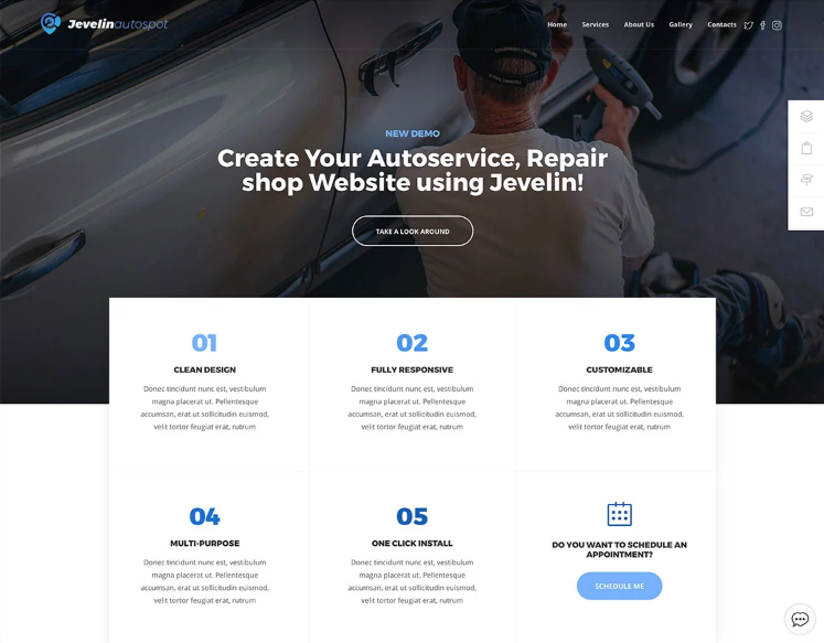 Jevelin WordPress Car theme