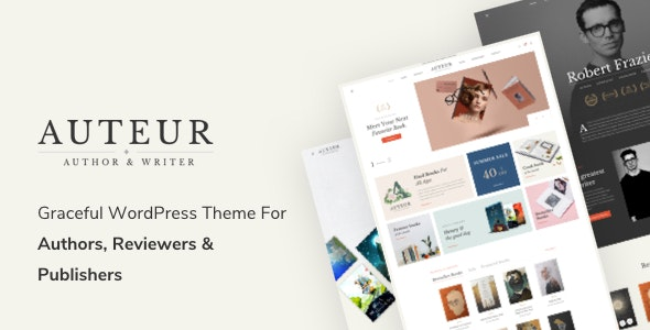 Auteur – Author WordPress theme