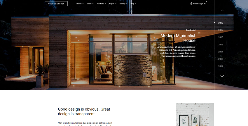 Architecture - WordPress for Interior Designer