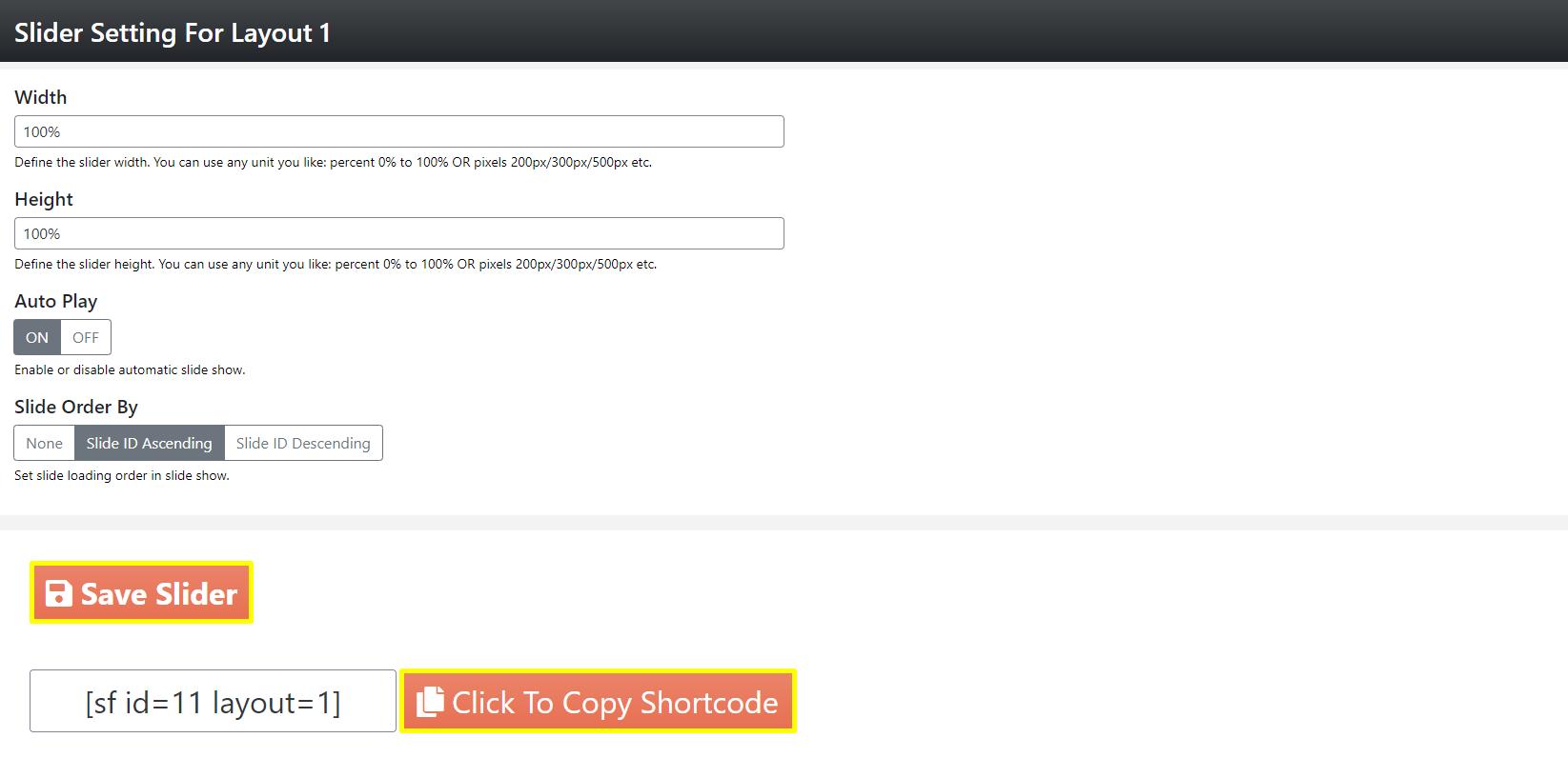 Slider Factory Free WordPress Plugin Docs 2-6