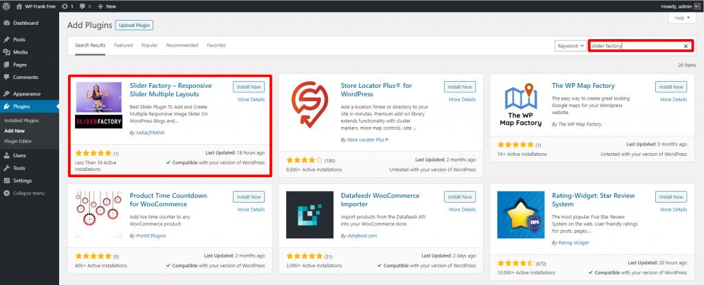 Slider Factory Free WordPress Plugin Docs 1-2