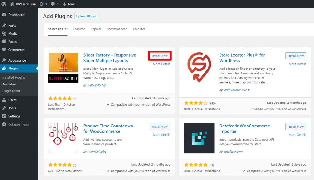 Slider Factory Free WordPress Plugin Docs 1-3