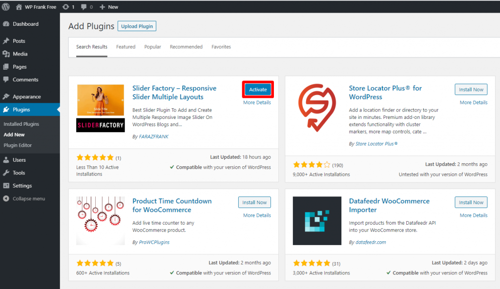 Slider Factory Free WordPress Plugin Docs 1-4