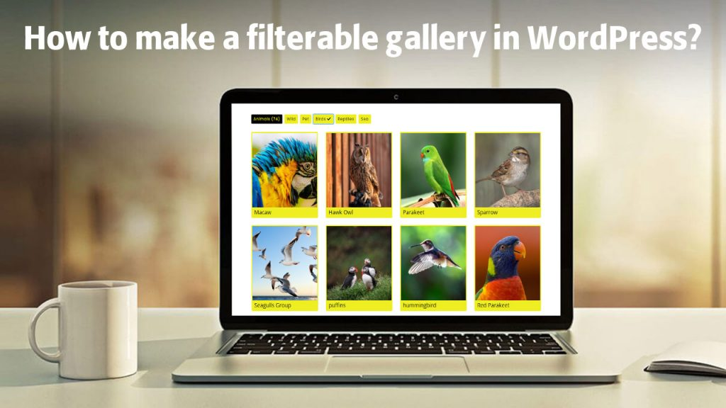 How to make a filterable gallery in WordPress