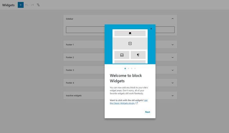 Blocks Widgets on Screen 2