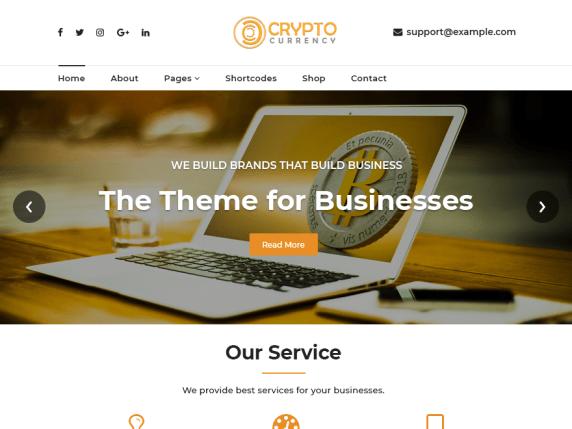 Cryptocurrency Exchange WordPress Theme