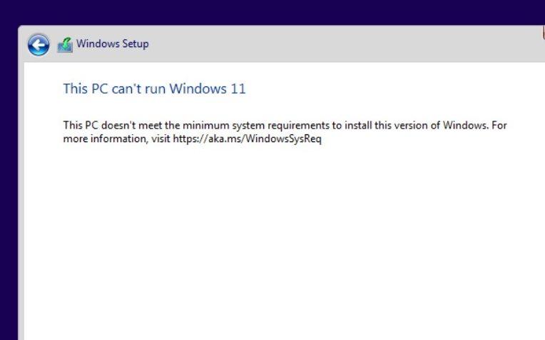Bypass windows 11 TPM 2.0